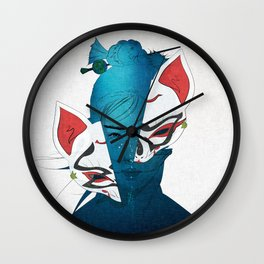 Fox Mask Wall Clock