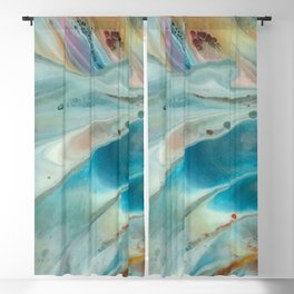 Pearl abstraction Blackout Curtain
