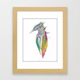 Kingfisher 1g. Full color on white background-(Red eyes series) Framed Art Print
