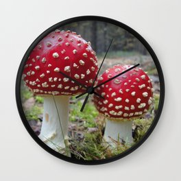 The Two in Red. Wall Clock