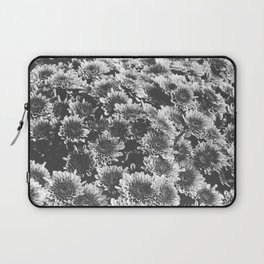 Chrysanthemum Autumn Flowers Black and White Photography Laptop Sleeve