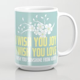 Happy Easter, Happy Spring | Poem Artwork | Robin's Egg Blue Coffee Mug