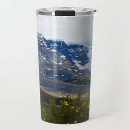 The Athabasca & Snow Dome Glaciers in Jasper National Park, Canada Travel Mug