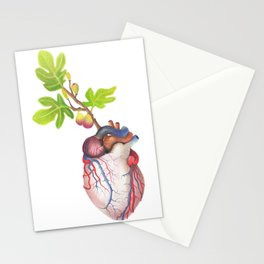 Fig Heart Stationery Cards
