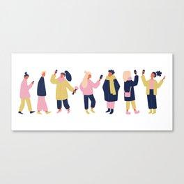 Social Media People Canvas Print