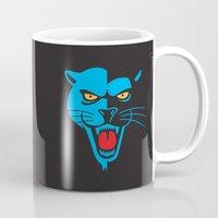 panther Mugs featuring Panther by Jhonatan Medina