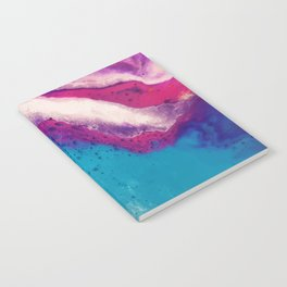 Abstract colorful marble Notebook