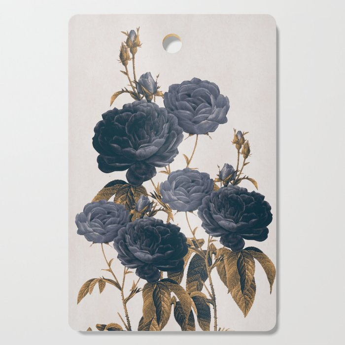 blue flowers Cutting Board