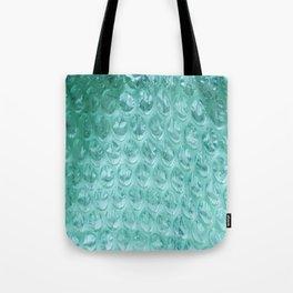 Aqua Bubble Wrap Tote Bag