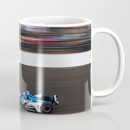 Rahal running in the INDY 500 Coffee Mug