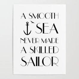 a smooth sea Poster