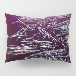 Purple Lake & Silver Reeds Pillow Sham