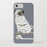 return iPhone & iPod Cases featuring The Mummy Pug Return by Huebucket