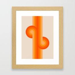 Creamsicle Knots Framed Art Print