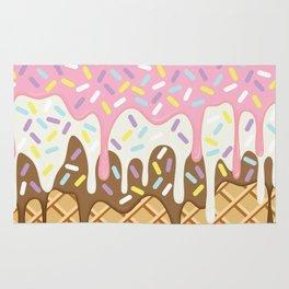 Neapolitan Ice Cream with Sprinkles Rug