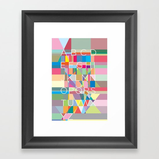 Letters3 Framed Art Print