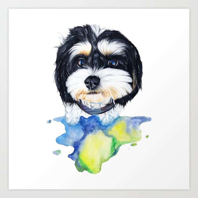 Shih Tzu Puppy Art Print By Apatche Society6