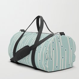 Dotted lines in cream, teal and sea foam Duffle Bag