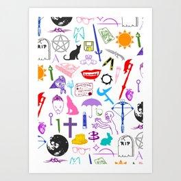 Buffy Symbology, Multi-color / Rainbow / PRIDE! Art Print
