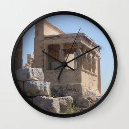 Caryatids (photo) Wall Clock