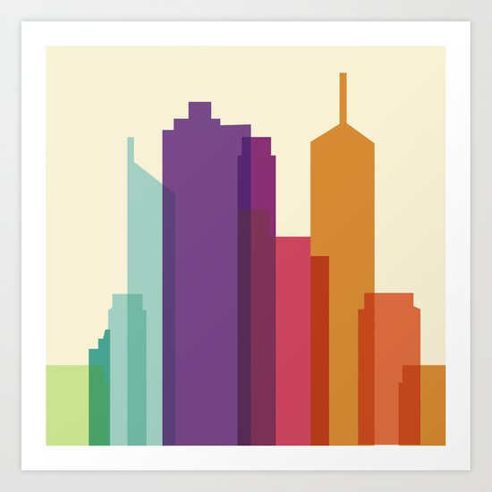 City Vector Art Print