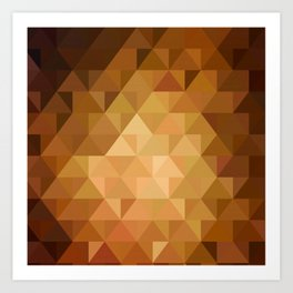Low poly 5 Art Print