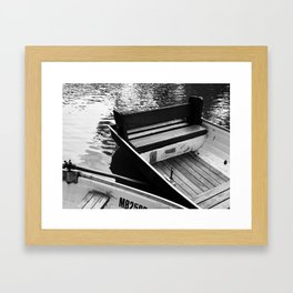 Two boats on a river Framed Art Print