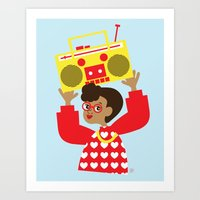transistor Art Prints featuring Trini Transistor  by The Pairabirds