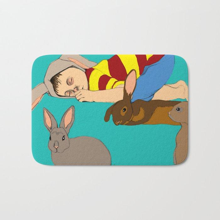 Bunny Boy Bath Mat