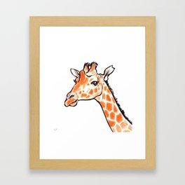 Kipawa the Giraffe Framed Art Print