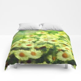 """""""Spring of daisies, green and sunlight"""" Comforters"""