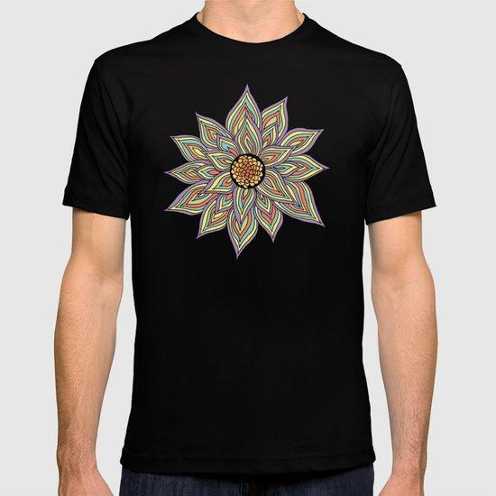 Floral Rhythm In The Dark T-shirt
