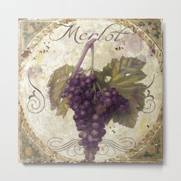 Tuscan Table Merlot Metal Print