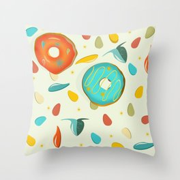 SOUP TO DONUTS Throw Pillow