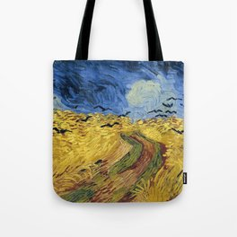 Wheatfield with Crows by Vincent van Gogh Tote Bag