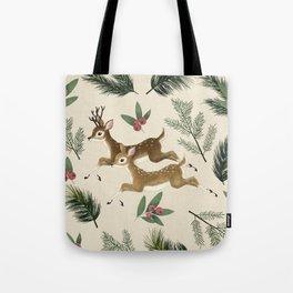 winter deer // repeat pattern Tote Bag