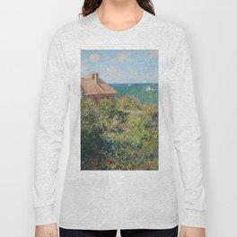 Fisherman's Cottage at Varengeville by Claude Monet Long Sleeve T-shirt