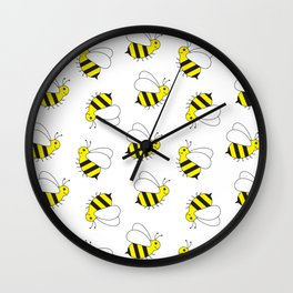 Bumble Bee Pattern Wall Clock