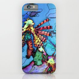 Lion Fish Abstract PhotoArt iPhone Case