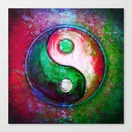 Yin Yang - Colorful Painting VII Canvas Print