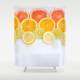 Orange lemon grapefruit Shower Curtain