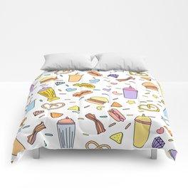 Fast food & Shakes Comforters