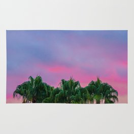 Tropical Palm Trees under the Sunset Rug
