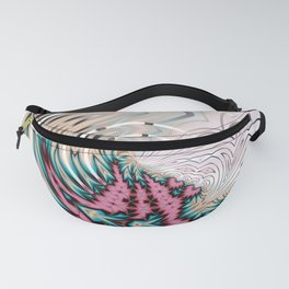 Pink and blue flow with circle Fanny Pack