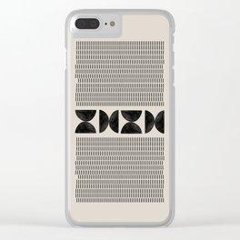 Mid Century Modern Geometric Clear iPhone Case