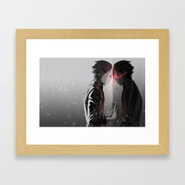 Mirror Crack Framed Art Print