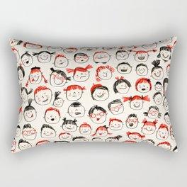 Silly Faces Rectangular Pillow