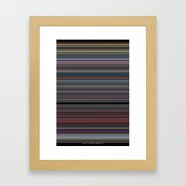 2001 A Space Odyssey - Use of Color Framed Art Print