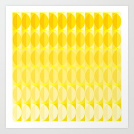 Leaves in the sunlight - a pattern in yellow Art Print