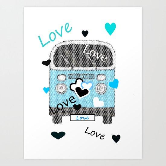 Love Bus Art Print